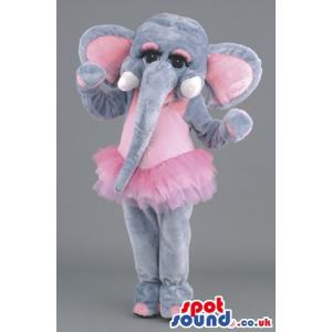 Pretty girly elephant with a ballet dress and tusks - Custom