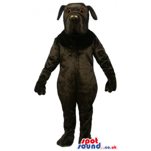 Cute All Black Dog Pet Plush Mascot With Round Nose - Custom