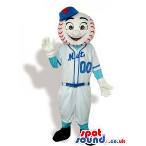 Baseball Mascot Wearing Sports Garments With Numbers - Custom