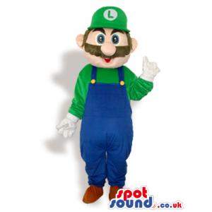 Luigi Super Mario Bros. Video Game Character Mascot - Custom