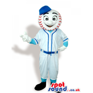 Baseball Mascot Wearing Customizable Sports Garments - Custom