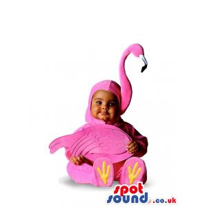Very Cute Child Baby Size Pink Flamingo Plush Costume - Custom