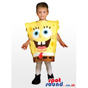 Cute Sponge Bob Character Plush Children'S Size Costume -