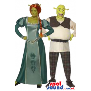 Couple Costume Shrek And Fiona Character Adult Size Costumes -