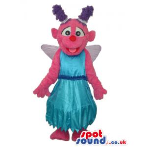 Sesame Street Abby Cadabby Pink Fairy Cartoon Tv Mascot -