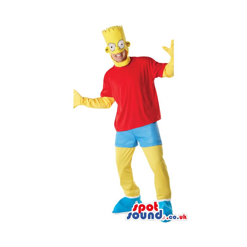Bart Simpson Cartoon Character Adult Size Disguise - Custom