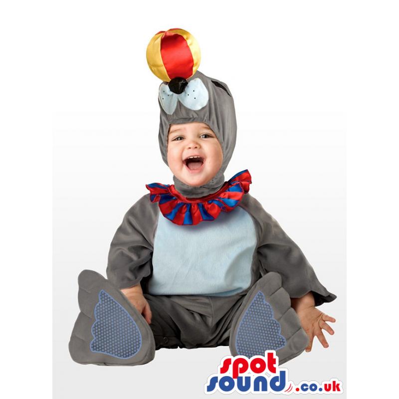 Grey Seal Animal Plush Children Size Disguise Costume - Custom