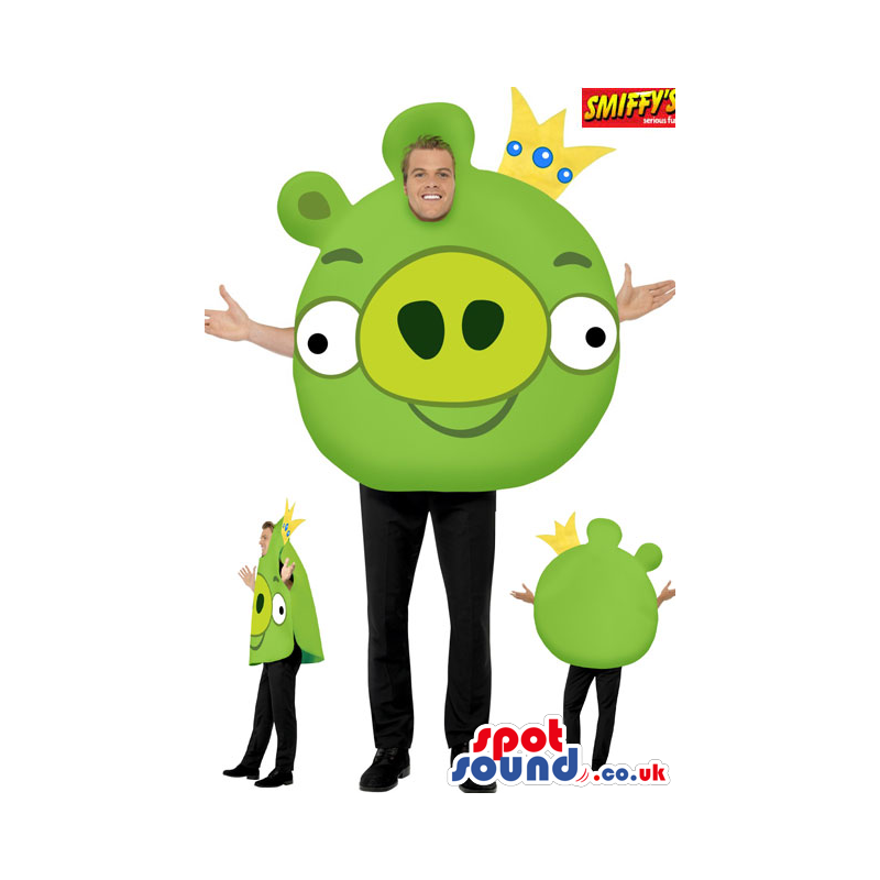 Green Popular Angry Birds Adult Size Plush Disguise - Custom
