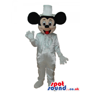 Mickey Mouse Disney Character With White Shinny Garments -