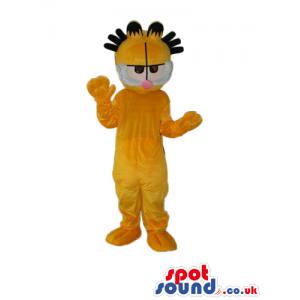 Garfield Cat Cartoon Character Plush Mascot With Spiky Hair -