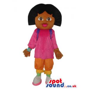 Dark Dora The Explorer Popular Cartoon Character Mascot -