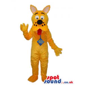 Yellow Scooby-Doo Dog Cartoon Character Plush Mascot - Custom