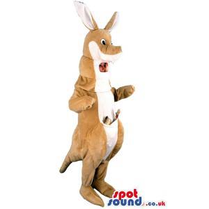 Cute big kangaroo mascot & costume for you use or to wear -