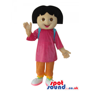 Dora The Explorer Popular Cartoon Character Mascot - Custom