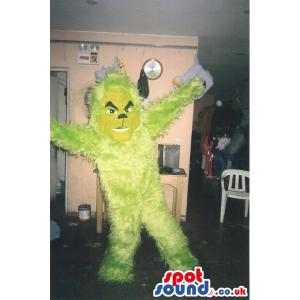 Green chimpanzee with a lot of fur in his body dancing - Custom