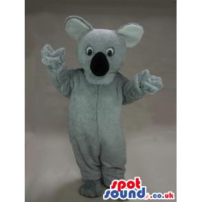 Grey Koala Animal Plush Mascot With A Big Black Nose - Custom