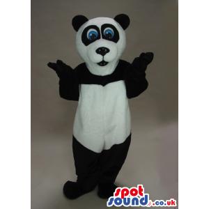 Panda Bear Animal Plush Mascot With Funny Blue Eyes - Custom