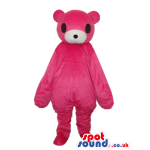 Cute All Pink Teddy Bear Plush Mascot With White Mouth - Custom