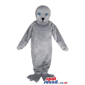 Professional White adult seal mascot with cute pose - Custom