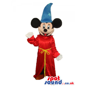 Mickey Mouse Disney Character With Fantasia Movie Garments -