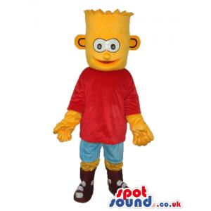 Bart Simpson Popular Cartoon Character Plush Mascot - Custom
