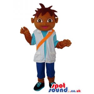Dark Dora The Explorer Boy Popular Cartoon Character Mascot -