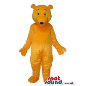 Cute All Orange Winnie It Pooh Plain Cartoon Character Mascot -