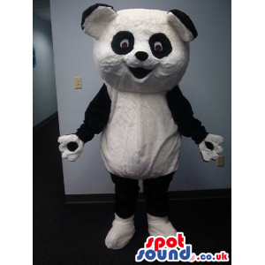 Cartoon Panda Bear Animal Plush Mascot With Big Head - Custom