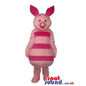 Piglet Character Mascot From Winnie It Pooh Popular Cartoon -