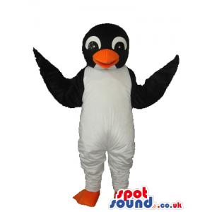 Cute Young Penguin Animal Plush Mascot With Orange Beak -