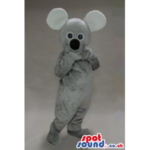 Cute Grey Koala Animal Plush Mascot With A Big Black Nose -