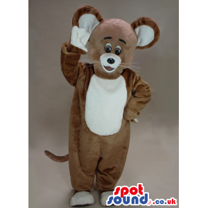 Brown Mouse Animal Plush Mascot With White Belly - Custom