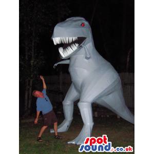 Grey Giant T-Rex Dinosaur Creature Air-Filled Mascot - Custom