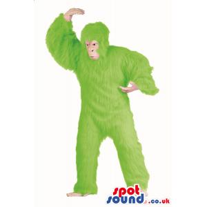 Flashy Green Hairy Gorilla Plush Mascot Or Disguise - Custom