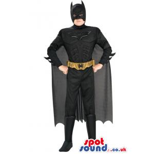 Amazing Black Batman Popular Character Adult Size Disguise -