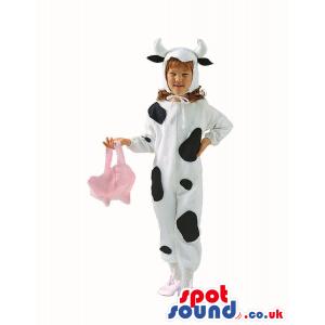 Cute Halloween Cow Children Size Costume Disguise - Custom