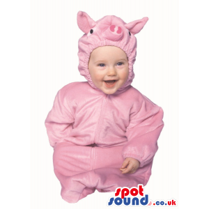 Cute Halloween Pink Pig Baby Child Size Costume Disguise -