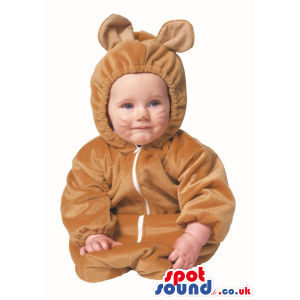 Cute Halloween Brown Mouse Baby Child Size Costume Disguise -