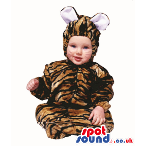 Cute Halloween Patterned Tiger Baby Child Size Costume Disguise