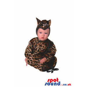 Cute Halloween Leopard Baby Child Size Costume Disguise -