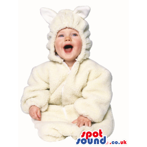 Cute Halloween White Mouse Baby Child Size Costume Disguise -