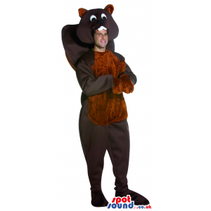 Brown Chipmunk Or Squirrel Adult Size Costume Or Plush Mascot -