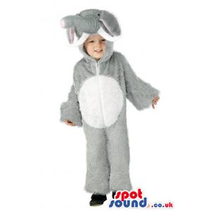 Cute Halloween Grey Elephant Children Size Plush Costume