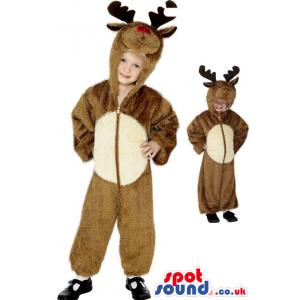 Cute Brown Reindeer Children Size Plush Costume Disguise -