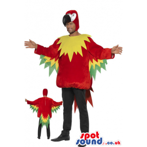 Awesome Big Parrot Adult Size Costume Or Plush Mascot - Custom