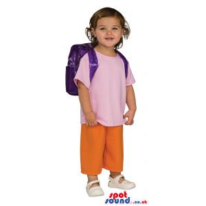 Cute Dora The Explorer Children Size Costume Disguise - Custom