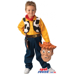 Cute Woody Form Toy Story Movie Children Size Costume - Custom