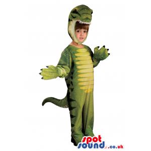 Cute Green Dinosaur Children Size Costume Or Disguise - Custom