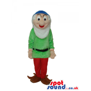 Snow White And The Seven Dwarfs Character Mascot In Green