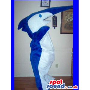 Customizable Blue And White Swordfish Plush Mascot - Custom